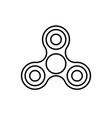 spinner outline silhouette vector image