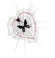 Spyder in love vector image vector image