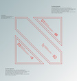 Square divided to three red parts infographic on vector image vector image