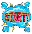start word comic book pop art vector image vector image