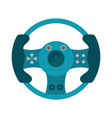steering wheel video game vector image vector image