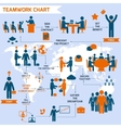 Teamwork infographic set vector image vector image