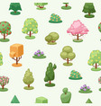 trees plant element seamless pattern vector image