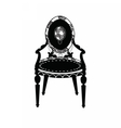 Vintage Classic chair in rounded shape vector image vector image