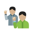 Waving to people I vector image vector image