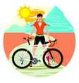 woman cyclist vector image