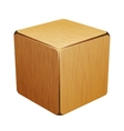 wooden cube box vector image