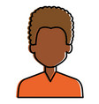 young black man avatar character vector image