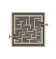 labyrinth maze game isolated exit icon shape vector image