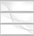Promotion flyer wave line header collection vector image