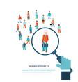 human resource vector image