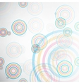 Abstract background made of set of rings vector image