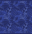 abstract blue leaves background seamless vector image