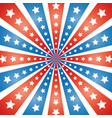 american abstract flag rays with stars background vector image