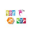 athlete sport template set vector image