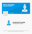 blue business logo template for detective hacker vector image