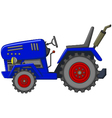 blue tractor cartoon for you design vector image vector image