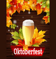 bright poster for beer party oktoberfest vector image vector image