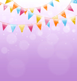 buntings on pink vector image