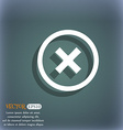 Cancel icon no sign On the blue-green abstract vector image
