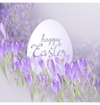 card for Easter Floral frame with crocuses vector image vector image