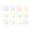 circle infographic number options design vector image vector image