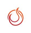 circular burning flame fire emblem symbol design vector image vector image