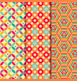 Colored geometric patterns background vector image vector image