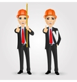 construction engineer worker builder vector image