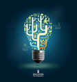 Creative light bulb Abstract infographic Design vector image