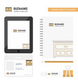 cupboard business logo tab app diary pvc employee vector image vector image
