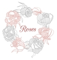 decorative floral garland with roses vector image vector image