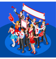 Election Infographic Crowd Party Affiliate vector image vector image