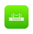 fence parade icon green vector image vector image