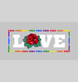 free love print vector image