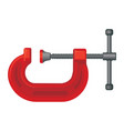 g clamp tool steel vice equipment for metal vector image