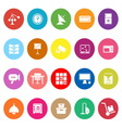General office flat icons on white background vector image vector image