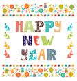 Happy New Year Cute greeting card vector image