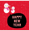 Happy new year greeting card13 vector image