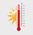 heat thermometer icon - measurement symbol vector image vector image