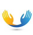 hopeful hands unity icon logo vector image vector image