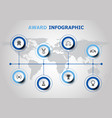 infographic design with award icons vector image vector image