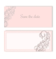 Invitation cards for wedding engagement vector image