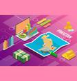 islam republic of pakistan isometric business vector image vector image