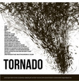 isolated abstract black color tornado of dust in vector image