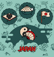 Japan flat concept icons