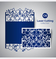 laser cut wedding invitation envelope for cutting vector image vector image
