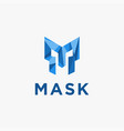 letter m for mask logo icon template vector image vector image