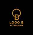 luxury initial b logo design icon element isolated vector image