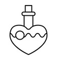 magic potion thin line icon love potion vector image vector image